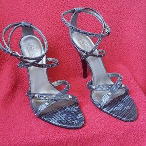 Carlos Santana studded stiletto heels
